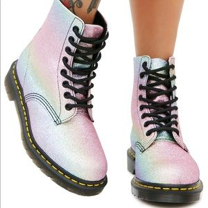 Dr Marten 1460 Pascal Glitter Rainbow Boots